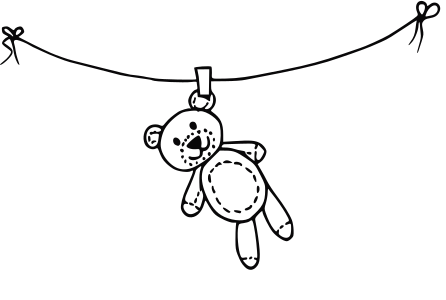 Medvídek na kolíku